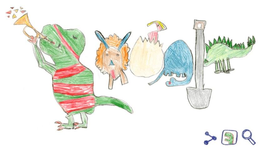 010819 dinosaur google doodle