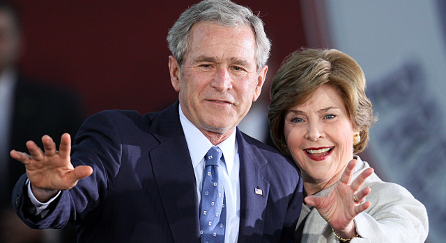 031809 George and Laura Bush p1