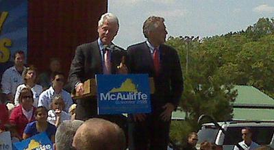 051309 McAuliffe and Clinton