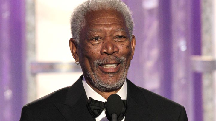 In this handout photo provided by NBC, Morgan Freeman accepts the Cecil B. Demille Award onstage during the 69th Annual Golden Globe Awards at the Beverly Hilton International Ballroom on January 15, 2012 in Beverly Hills, California.