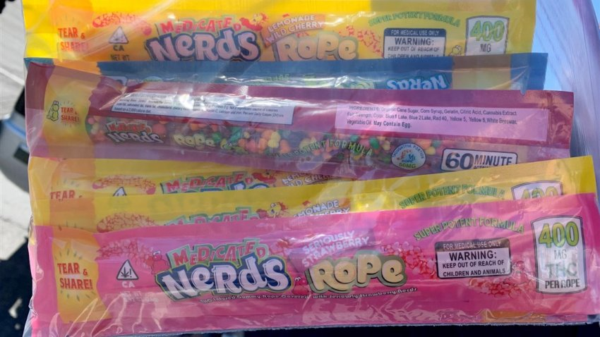 Nerds Ropes candy that were infused with THC and distributed to families by the Utah Food Bank.