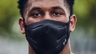 """Underarmour introduces a """"sports"""" mask for athletes training during the pandemic."""