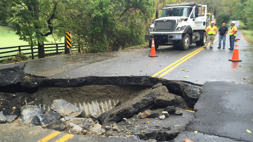 20151001 Road Washed Out