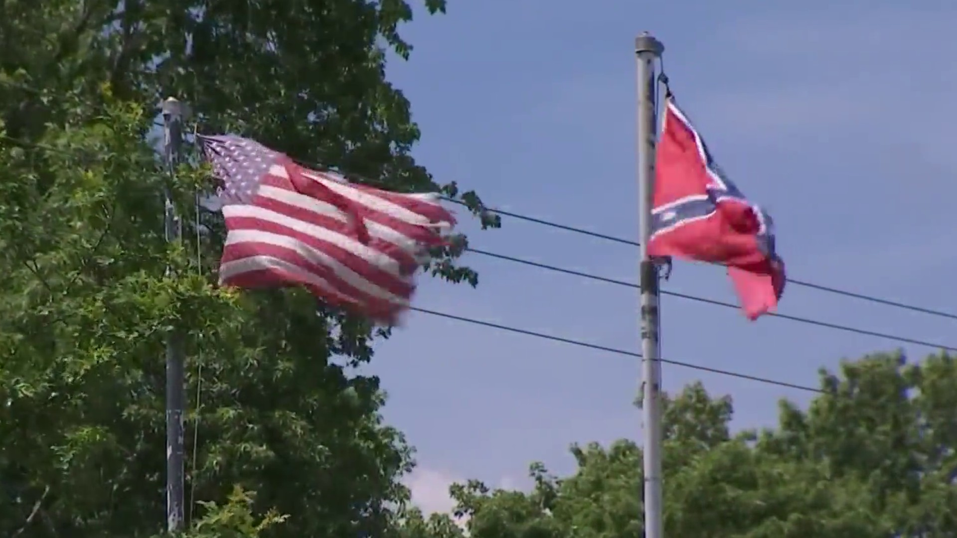 Confederate Flag Taken in Virginia, New One Hoisted in Its Place