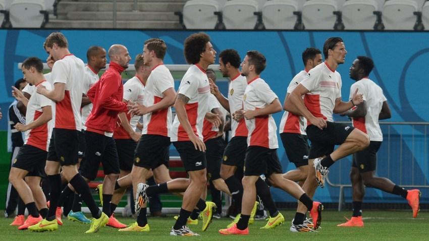 Belgium training session - 2014 FIFA World Cup Brazil