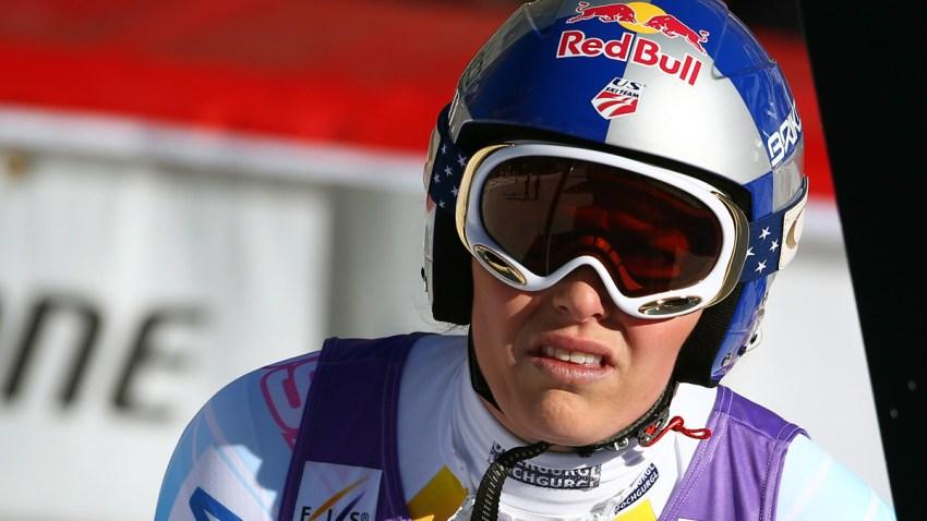 France Alpine Skiing Vonn Knee