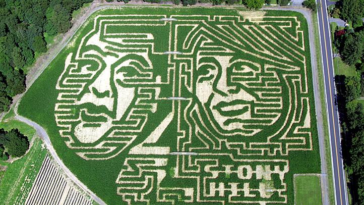 NJ Governor Corn Maze