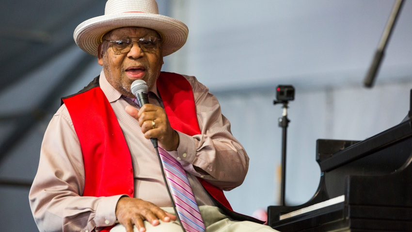 FILE - This April 28, 2019 file photo shows Ellis Marsalis during the New Orleans Jazz & Heritage Festival in New Orleans. (AP Photo/Sophia Germer, File)