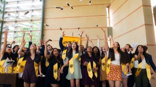 Graduating seniors of Rice's Wiess College