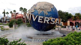 The globe at Universal Studios City Walk at Universal Studios Florida in Orlando, Fla.