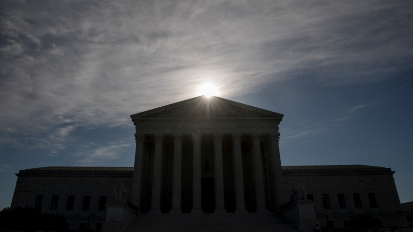 The Supreme Court where the justices held arguments by telephone for the first time ever, Monday, May 4, 2020, in Washington.