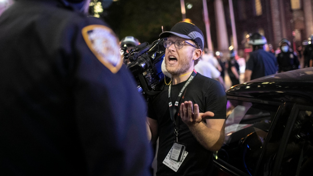 NYPD Officers Shove AP Journalists, Make Them Stop Covering Protest