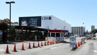 The entrance to CBS Television City studio