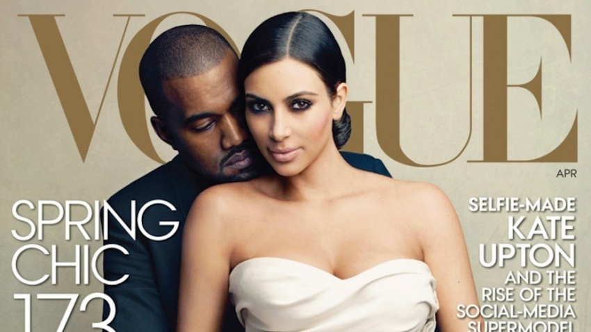 April Vogue Kim Kardashian Kanye West