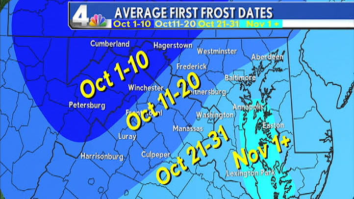 Average First Frost Dates