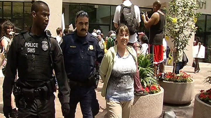 Bank Protesters arrested