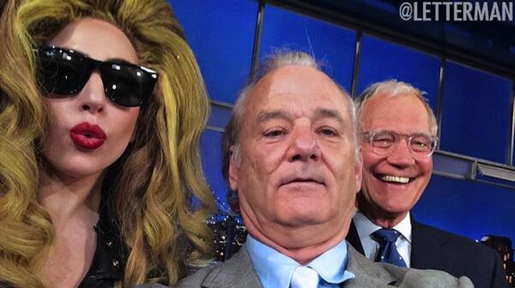 Bill Murray Letterman Gaga selfie