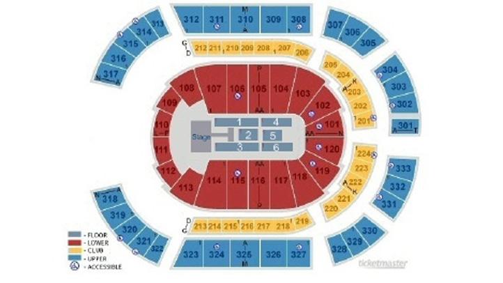 Bridgestone Arena Seating Chart