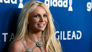 This April 12, 2018, file photo shows Britney Spears at the 29th annual GLAAD Media Awards in Beverly Hills, Calif.