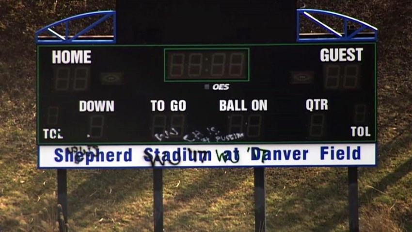 Churchill High School Scoreboard Vandalism 013117