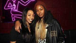 In this Jan. 21, 2015, file photo, Rox Brown (left) and Chynna Rogers attend Santos Party House in New York City.