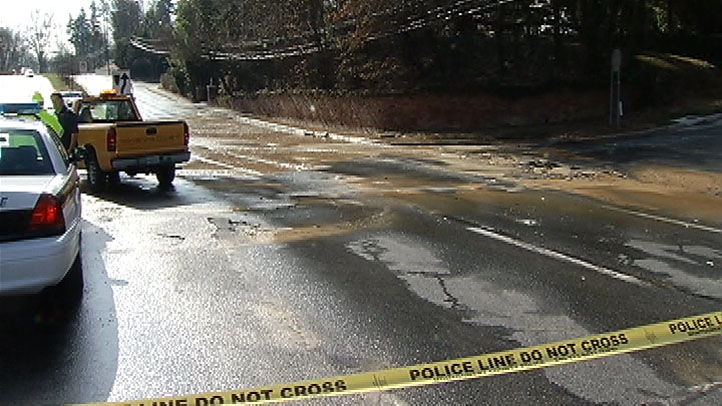 Connecticut Avenue Broken Water Main Kensington