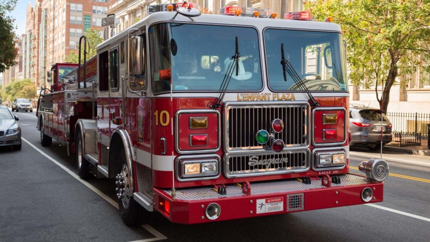 DC Fire and EMS Engine Truck shutterstock_337943633