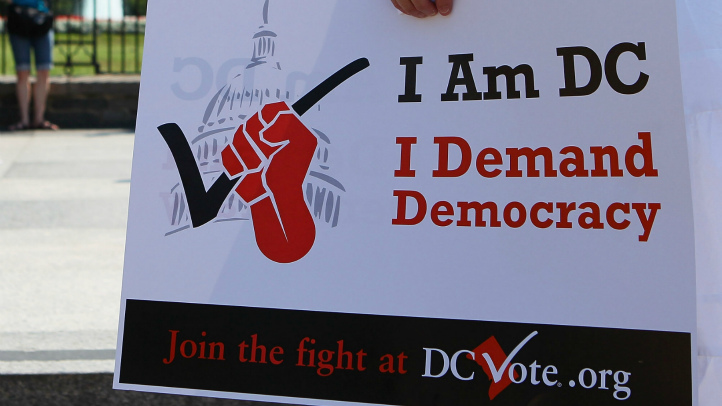 DC Voting Rights DC Vote Sign