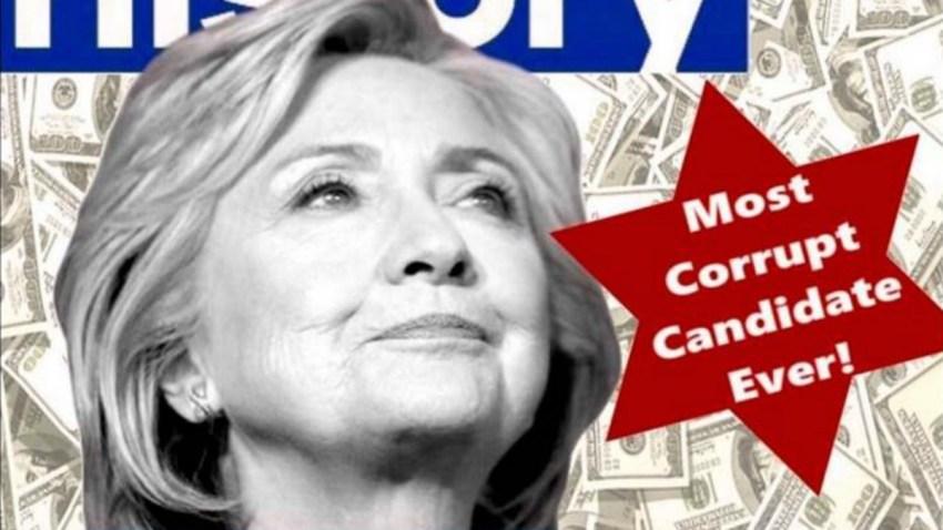 Donald Trump Hillary Clinton Star of David
