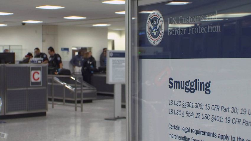 Dulles Customs and Border Protection Smuggling