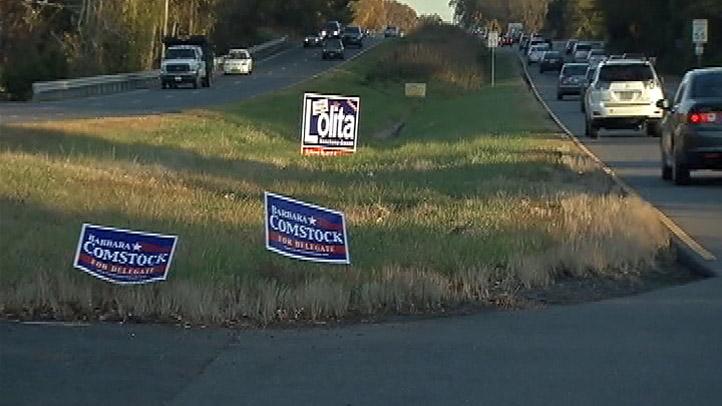 Fairfax County Median Political Signs