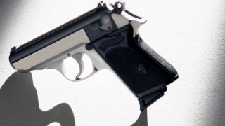 Stock image of a handgun