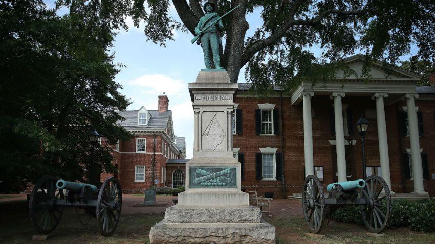 Getty confederate statue
