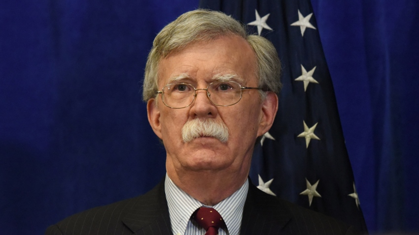 Former National Security Advisor John Bolton attends a media briefing during the United Nations General Assembly on September 24, 2018 in New York City.