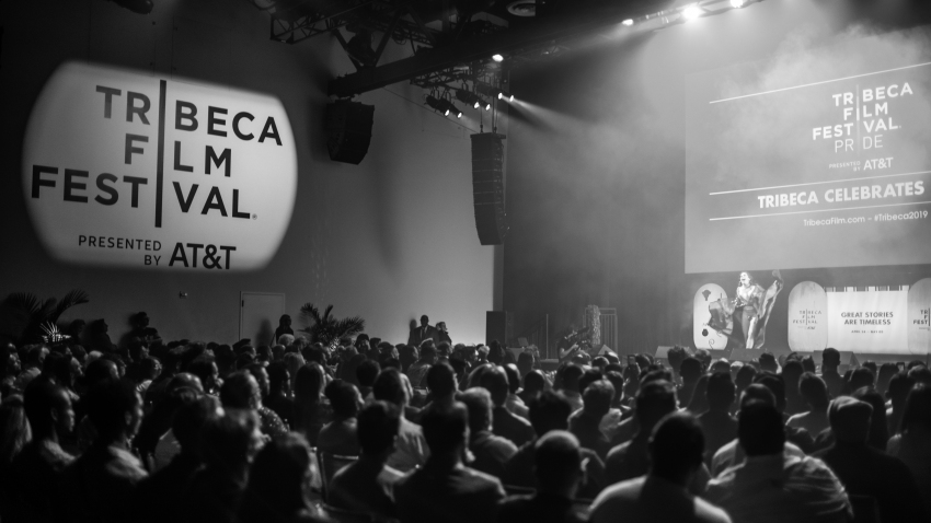 """Tribeca Enterprises and YouTube are teaming up for a festival that will benefit the World Health Organization and local relief organizations, and encourage viewers to donate to COVID-19 relief efforts. (EDITORS NOTE: Image has been converted to black and white) Charlene Incarnate onstage at a screening of """"Wig"""" during the Tribeca Film Festival at Spring Studio on May 4, 2019, in New York City."""