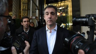 In this Feb. 26, 2019, file photo, Michael Cohen, former attorney and fixer for President Donald Trump, arrives at the Hart Senate Office Building before testifying to the Senate Intelligence Committee on Capitol Hill in Washington, D.C.