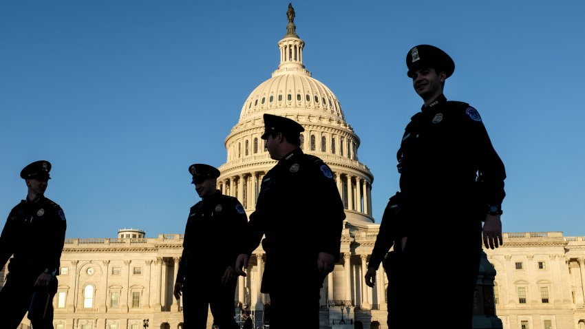 Police officers at the U.S. Capitol