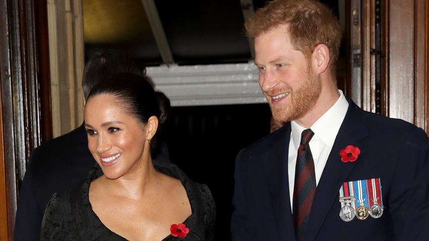 In this Nov. 9, 2019, file photo, Meghan, Duchess of Sussex and Prince Harry, Duke of Sussex attend the annual Royal British Legion Festival of Remembrance at the Royal Albert Hall in London.