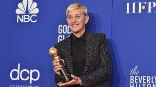 In this Jan. 5, 2020, file photo, Ellen DeGeneres attends The 77th Golden Globes Awards - Press Room at The Beverly Hilton Hotel in Beverly Hills, California.