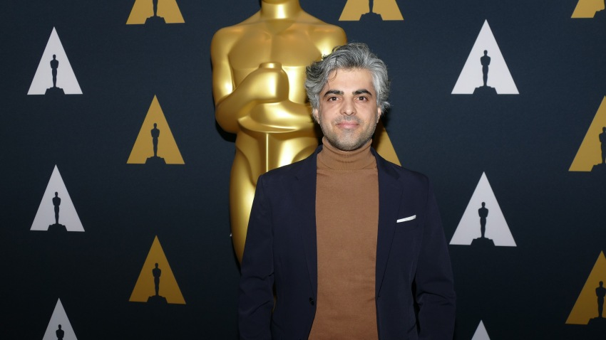 Feras Fayyad, Syrian director, at the reception for the Oscar-nominated documentaries in Los Angeles.