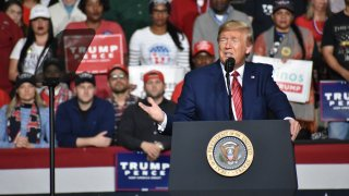 President Donald Trump at a South Carolina rally