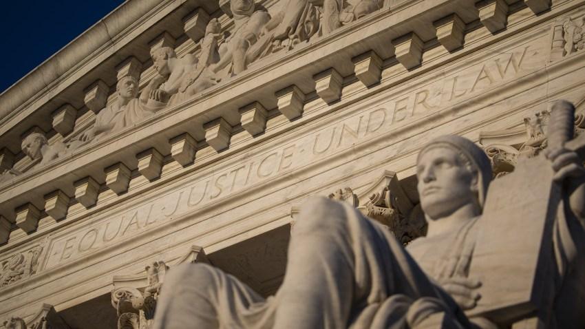 The U.S. Supreme Court stands in Washington, D.C., U.S., on Thursday, April 16, 2020.