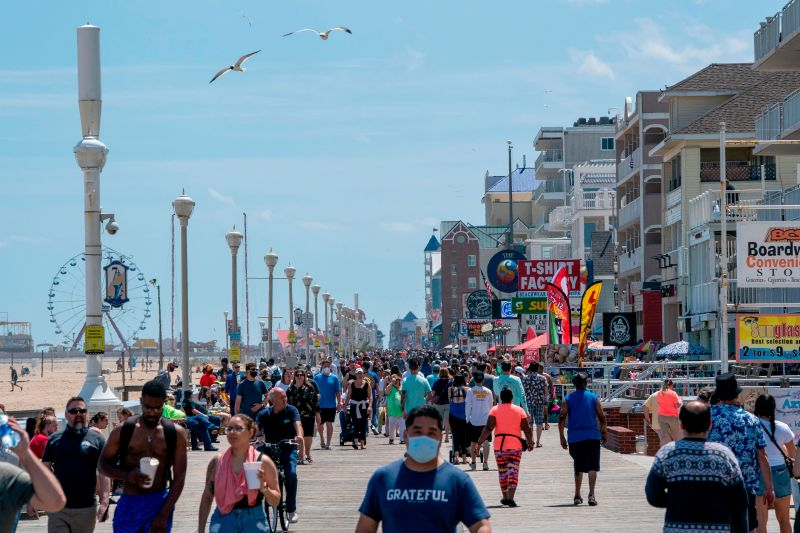 Crowds Flock to Ocean City Boardwalk, Beach Area on Memorial Day Weekend