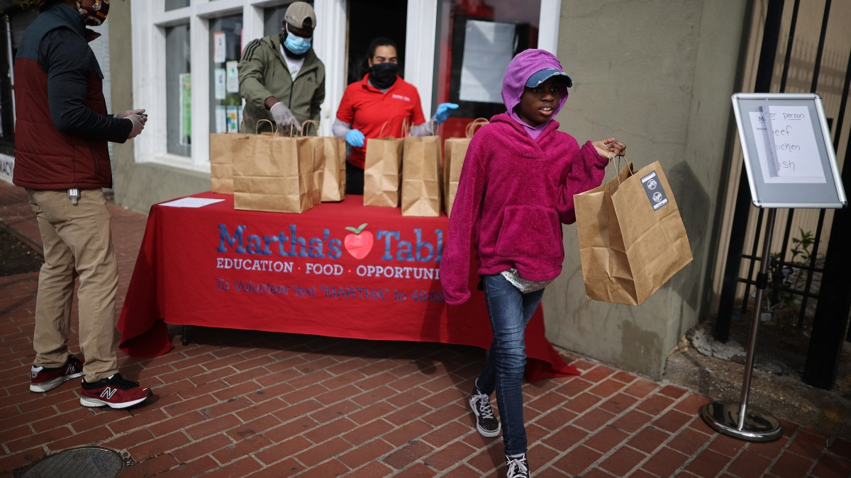 DC Community Volunteers Provide Food for Locked-down Needy
