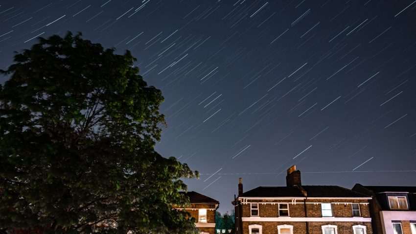 Stars illuminate the sky on a clear night in London