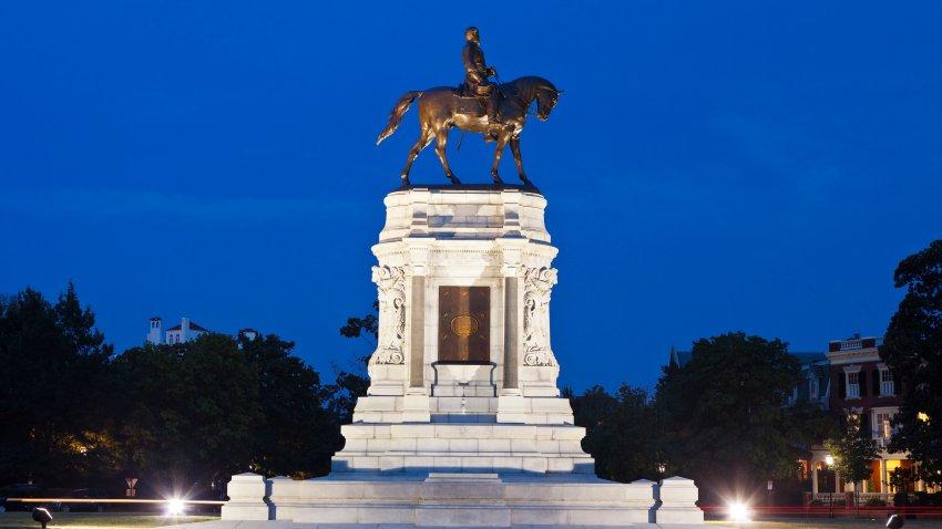 Robert E. Lee Monument In Richmond, Virginia
