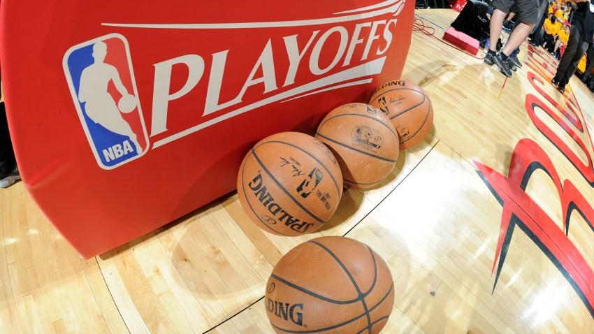 Pile of basketballs