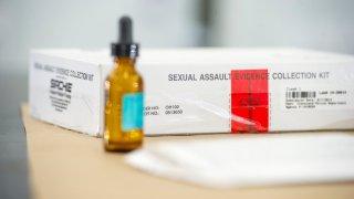 Stock photo of a rape kit.