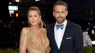 """In this May 1, 2017, file photo, Blake Lively and Ryan Reynolds attend the """"Rei Kawakubo/Comme des Garcons: Art Of The In-Between"""" Costume Institute Gala at Metropolitan Museum in New York City."""