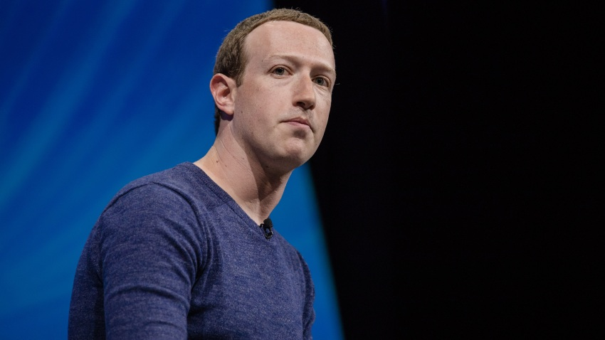 In this May 24, 2018, file photo, Mark Zuckerberg, chief executive officer and founder of Facebook Inc., listens during the Viva Technology conference in Paris, France.